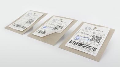 Kombietiketten aus Sicherheitspapier